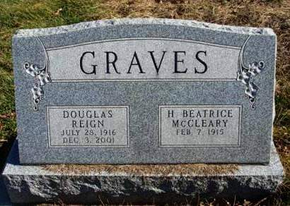 GRAVES, DOUGLAS REIGN - Madison County, Iowa | DOUGLAS REIGN GRAVES