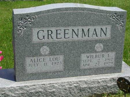 GREENMAN, ALICE LOU - Madison County, Iowa | ALICE LOU GREENMAN