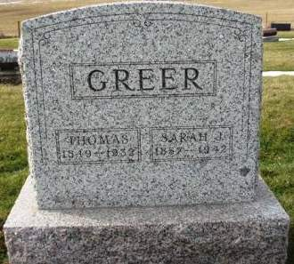 GREER, SARAH J. - Madison County, Iowa | SARAH J. GREER