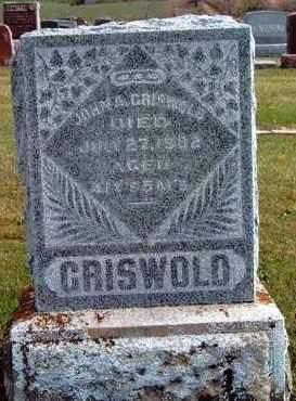 GRISWOLD, JOHN ALEXANDER - Madison County, Iowa   JOHN ALEXANDER GRISWOLD