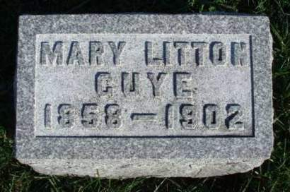 GUYE, MARY ELLEN - Madison County, Iowa | MARY ELLEN GUYE