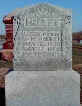 HADLEY, ELIZABETH - Madison County, Iowa | ELIZABETH HADLEY