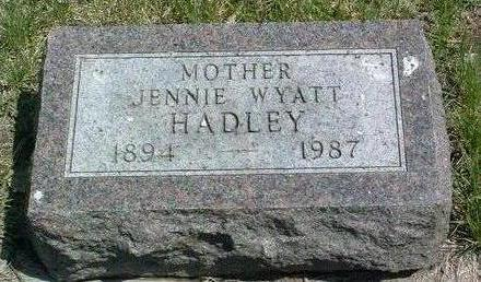 HADLEY, JENNIE L. - Madison County, Iowa | JENNIE L. HADLEY