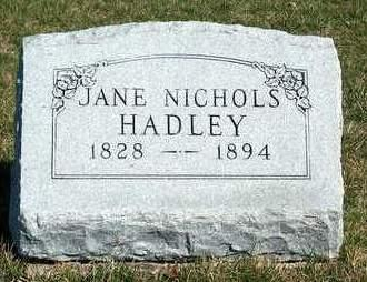 HADLEY, JANE - Madison County, Iowa | JANE HADLEY