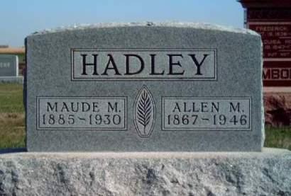 HADLEY, MAUDE MARY - Madison County, Iowa | MAUDE MARY HADLEY
