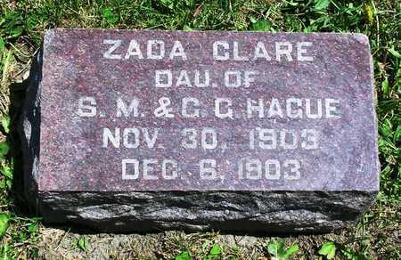 HAGUE, ZADA CLARE - Madison County, Iowa | ZADA CLARE HAGUE