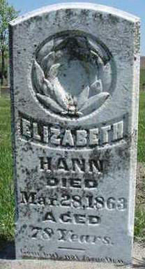 HANN, ELIZABETH - Madison County, Iowa | ELIZABETH HANN