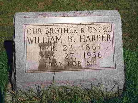 HARPER, WILLIAM BURRIS - Madison County, Iowa | WILLIAM BURRIS HARPER