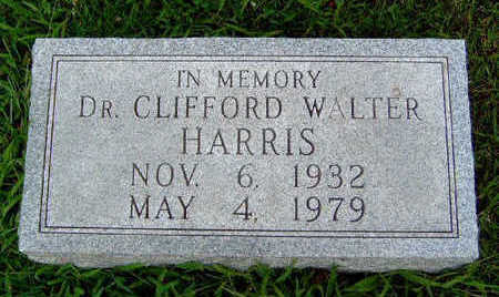 HARRIS, CLIFFORD WALTER (DR.) - Madison County, Iowa | CLIFFORD WALTER (DR.) HARRIS