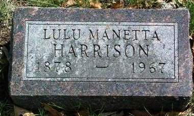 HARRISON, LULU MANETTA - Madison County, Iowa | LULU MANETTA HARRISON
