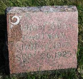 HARTMAN, MARY ADA - Madison County, Iowa | MARY ADA HARTMAN