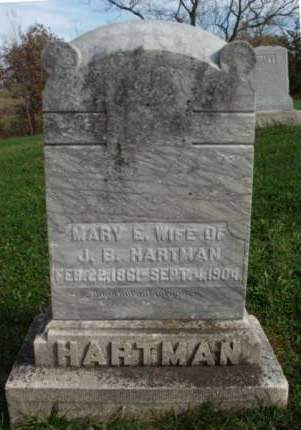 HARTMAN, MARY ELLEN - Madison County, Iowa | MARY ELLEN HARTMAN