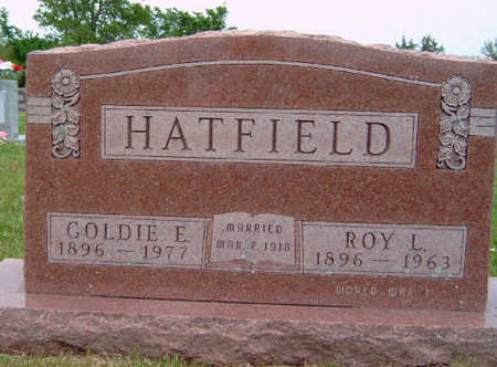 BATES HATFIELD, GOLDIE EVELYN - Madison County, Iowa | GOLDIE EVELYN BATES HATFIELD