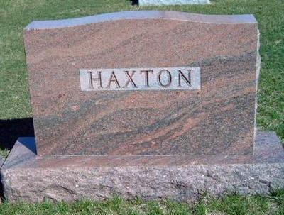 HAXTON, FAMILY STONE - Madison County, Iowa | FAMILY STONE HAXTON
