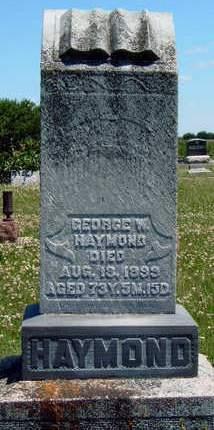 HAYMOND, GEORGE WASHINGTON - Madison County, Iowa | GEORGE WASHINGTON HAYMOND