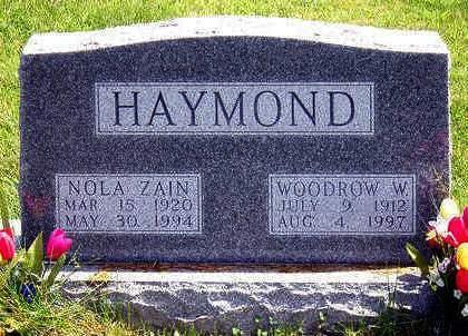 HAYMOND, WOODROW WILSON - Madison County, Iowa | WOODROW WILSON HAYMOND