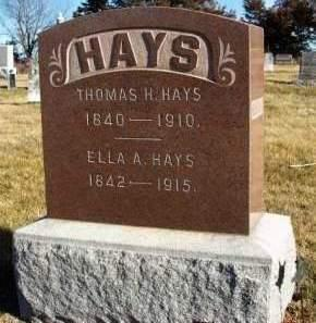 HAYS, ELLA AMELIA - Madison County, Iowa | ELLA AMELIA HAYS