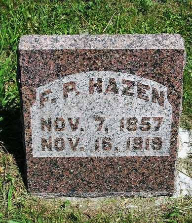 HAZEN, FRANK PIERCE - Madison County, Iowa | FRANK PIERCE HAZEN