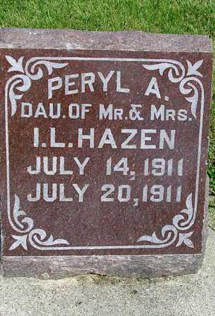 HAZEN, PERYL ALBERTA - Madison County, Iowa | PERYL ALBERTA HAZEN
