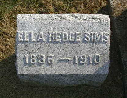 HEDGE SIMS, ELENOR (ELLA) - Madison County, Iowa | ELENOR (ELLA) HEDGE SIMS