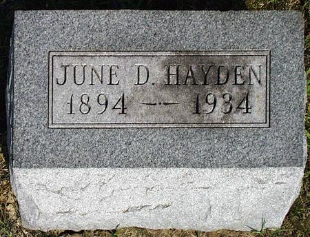 HAYDEN, JUNE DENTEIL - Madison County, Iowa | JUNE DENTEIL HAYDEN
