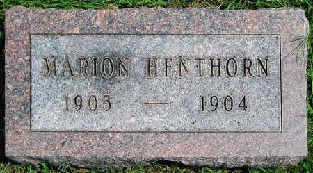 HENTHORN, MARION D. - Madison County, Iowa | MARION D. HENTHORN