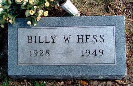 HESS, BILLY WAYNE - Madison County, Iowa | BILLY WAYNE HESS