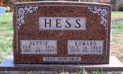 LEANHART HESS, JETTIE ALICE - Madison County, Iowa | JETTIE ALICE LEANHART HESS