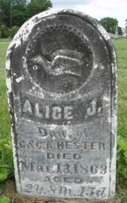 HESTER, ALICE J. - Madison County, Iowa | ALICE J. HESTER