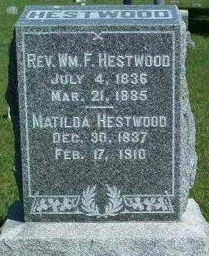 HESTWOOD, WILLIAM F. (REV.) - Madison County, Iowa | WILLIAM F. (REV.) HESTWOOD