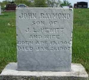 HEWITT, JOHN RAYMOND - Madison County, Iowa | JOHN RAYMOND HEWITT