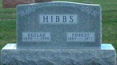 HIBBS, BEULAH ETHEL - Madison County, Iowa | BEULAH ETHEL HIBBS