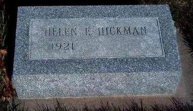 HICKMAN, HELEN E - Madison County, Iowa   HELEN E HICKMAN