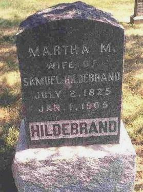 THOMPSON HILDEBRAND, MARTHA MATILDA - Madison County, Iowa | MARTHA MATILDA THOMPSON HILDEBRAND