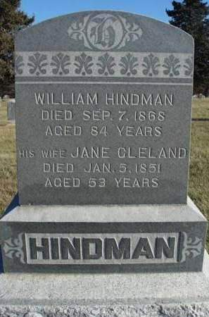 CLELAND HINDMAN, JANE - Madison County, Iowa | JANE CLELAND HINDMAN