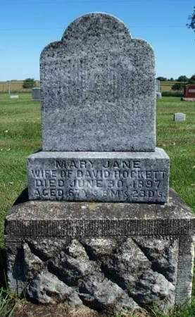 HANKS HOCKETT, MARY JANE - Madison County, Iowa | MARY JANE HANKS HOCKETT