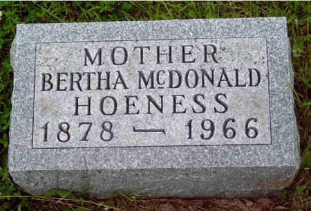 MCCORKLE HOENESS, BERTHA ELEANOR - Madison County, Iowa | BERTHA ELEANOR MCCORKLE HOENESS