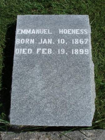 HOENESS, EMMANUEL - Madison County, Iowa | EMMANUEL HOENESS