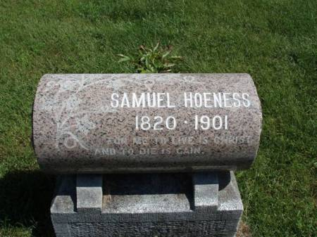 HOENESS, SAMUEL - Madison County, Iowa | SAMUEL HOENESS