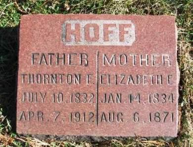 HOFF, ELIZABETH ELLA - Madison County, Iowa | ELIZABETH ELLA HOFF