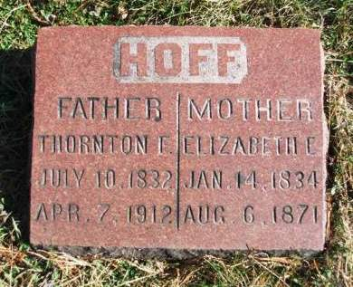 HOFF, THORTON FLEMING - Madison County, Iowa | THORTON FLEMING HOFF
