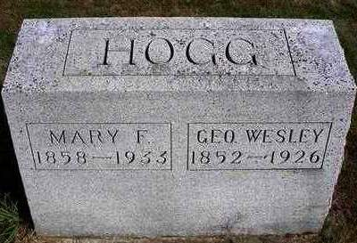 GARST HOGG, MARY FRANCES - Madison County, Iowa | MARY FRANCES GARST HOGG