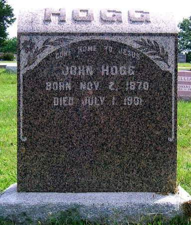HOGG, JOHN W. - Madison County, Iowa | JOHN W. HOGG