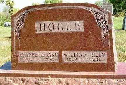 HOGUE, ELIZABETH JANE - Madison County, Iowa | ELIZABETH JANE HOGUE