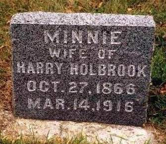 HOLBROOK, ARMINTA (MINNIE) - Madison County, Iowa | ARMINTA (MINNIE) HOLBROOK