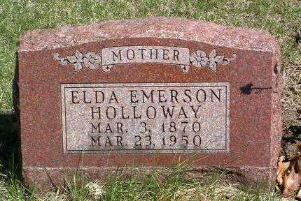 EMERSON HOLLOWAY, ELDA MAY - Madison County, Iowa | ELDA MAY EMERSON HOLLOWAY