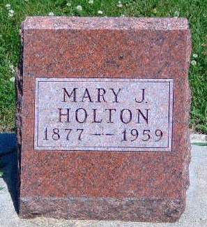 HOLTON, MARY JANE - Madison County, Iowa | MARY JANE HOLTON