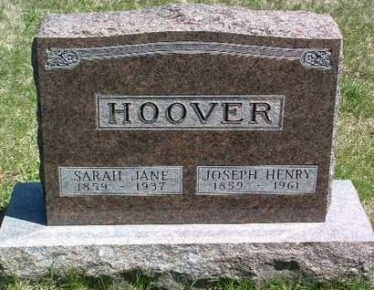 HOOVER, JOSEPH HENRY - Madison County, Iowa | JOSEPH HENRY HOOVER