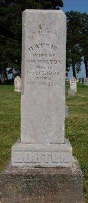 HILL HORTON, HARRIET O. (HATTIE) - Madison County, Iowa | HARRIET O. (HATTIE) HILL HORTON