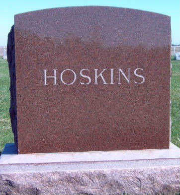 HOSKINS, FAMILY STONE - Madison County, Iowa | FAMILY STONE HOSKINS